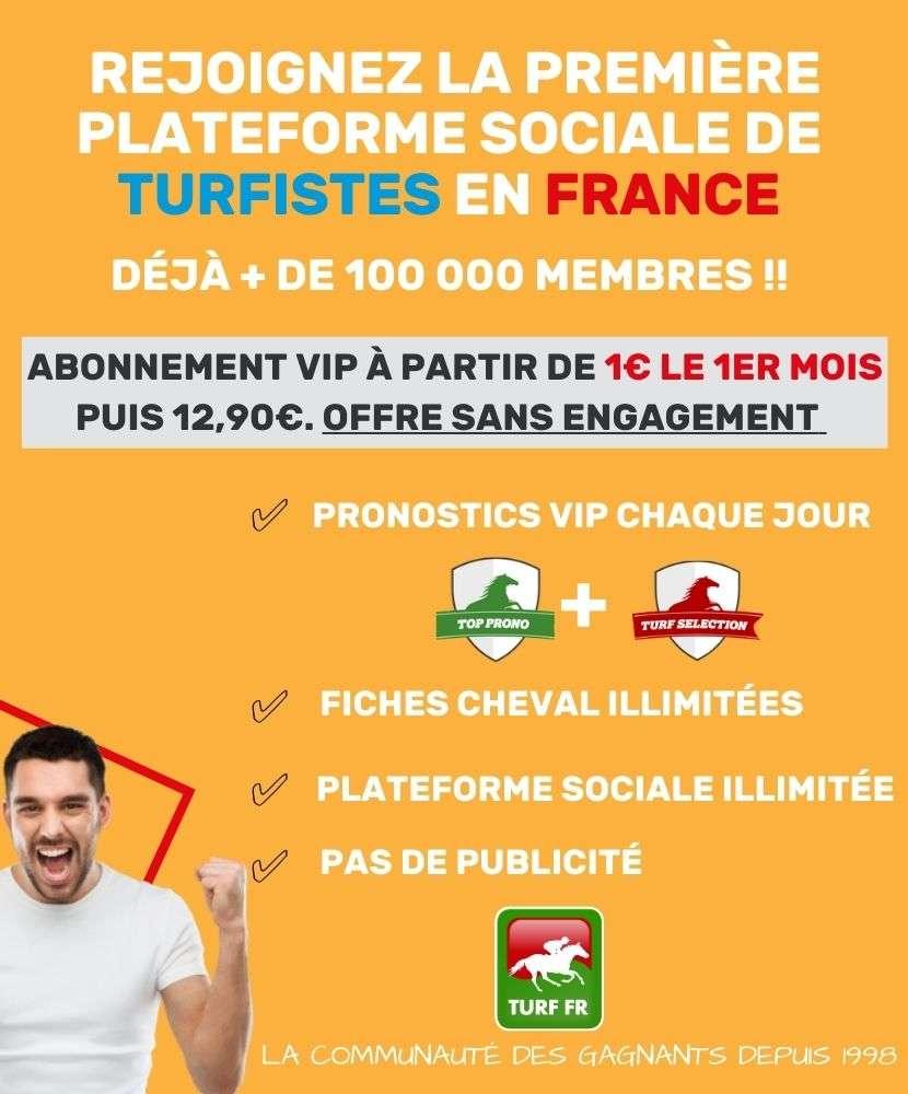 Abonnement aux Pronostics de TURF FR le site des turfistes en France